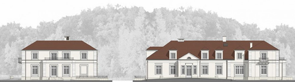 Rekonstrukcja dworu w Brochowie